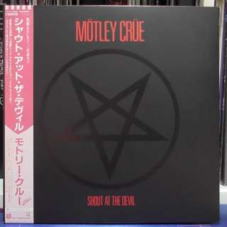 Motley Crue Shout at the Devil vinyl record LP japan press
