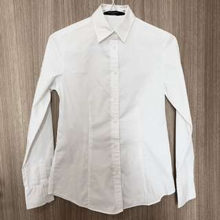 G2000 Woman Essential and Venis White Long Sleeve Formal Button Down Shirt Blouse Top (XXS - XS)