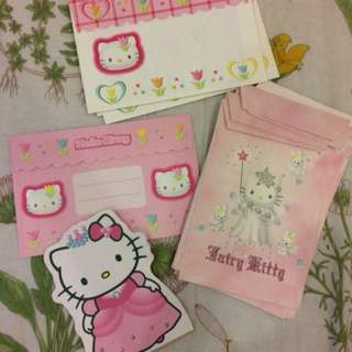 Vintage Hello Kitty letters and envelopes