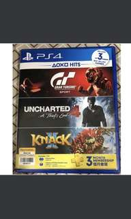 PS4 ( GT Sports + Uncharted 4)