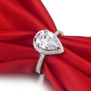Diamond Simulant Engagement Ring wedding ring party rings
