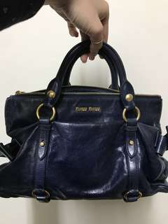 Miu Miu classic ribbon leather bag