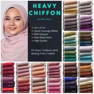 PO1: 2M HEAVY CHIFFON SHAWL