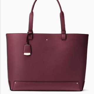 SALE Kate Spade Logan Street Eloisa Rosabel Tote Plum Preserves Purple Maroon Handbag