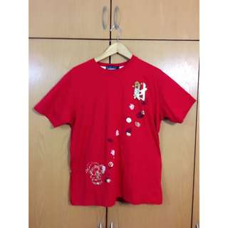 BLUE TOMS Red 'Chinese New Year' T-Shirt