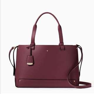 SALE Kate Spade Madison Avenue Logan Street Large Eloisa Handbag Satchel Slingbag Plum Preserves Purple
