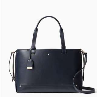SALE Kate Spade Logan Street Large Eloisa Handbag Satchel Slingbag Dark Cadet Royal Navy Blue Madison Avenue Collection