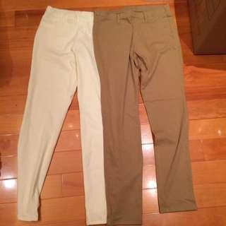 Uniqlo 白色卡其長褲 long pants 30 for 2
