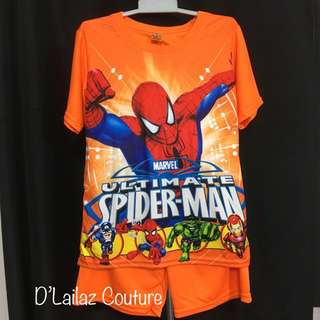 Spiderman Orange Pants Set 4XL last pc 10-12yrs old