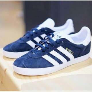 adidas gazelle white navy originals