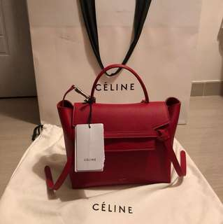 全新現貨正品 Celine Belt Micro Red (full set 連牌)