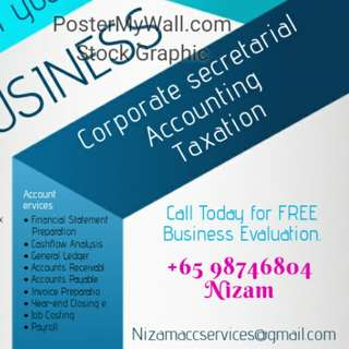 Incorporation, accounting,  income tax, GST,  company secretary