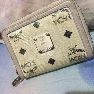 Authentic MCM white wallet