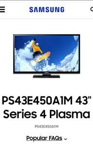 "43"" Samsung Plasma TV - Cheap"