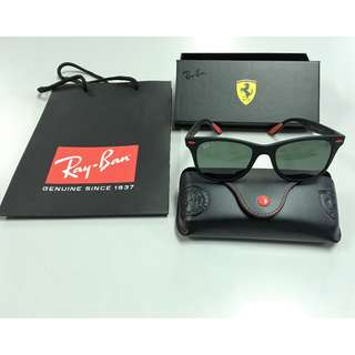 Ray Ban Wayfarer Scuderia Ferrari Liteforce RB4195M Limited Edition Green Polarize Lens