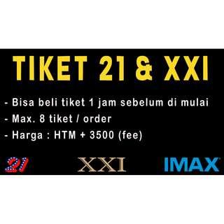 Tiket Bioskop 21 & XXI (via MTIX)