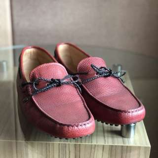 100% ORI TOD'S GOMMINO RED MEN'S SHOES SIZE 7