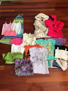 Lot of girls clothes YL size 10
