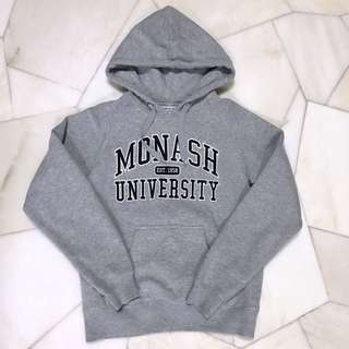 Grey Monash University hoodie jacket
