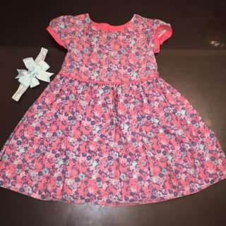 Gorgeous dress and matching headband 1-1 1/2 years
