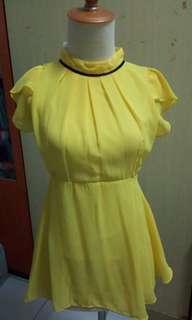 Sunflower peplum top