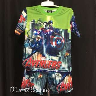 Marvel T-shirt & Pants Set S, M, L