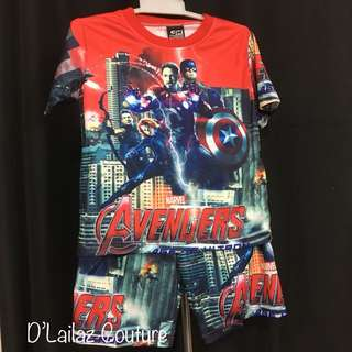 Red Avengers pants set Size S & M left