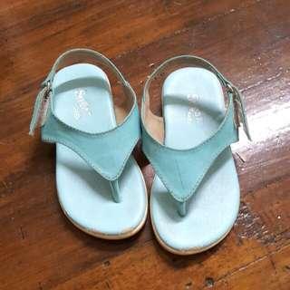 Sky blue sandals