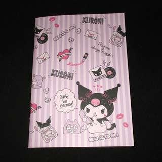 Sanrio 日本正版 Kuromi 記事本 筆記簿 單行簿