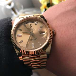 Yellow Gold Rolex Day Date 40 228238 Champagne Dial