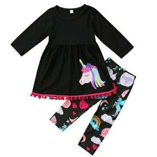 [PO] Unicorn girls longs sleeves and leggings