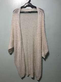Vero Moda Off White Furry Cover Up