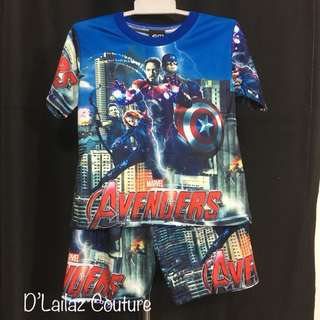 Marvel T-shirt & Pants Set Blue Size M & L left!