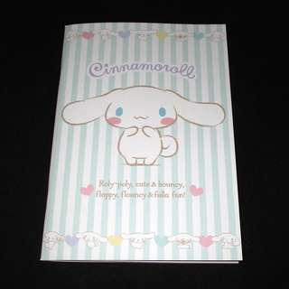 Sanrio 日本正版 Cinnamoroll 玉桂狗 記事本 筆記簿 單行簿