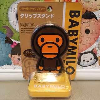 全新原裝正版 Saniro Baby Milo香蕉型 萬字夾 連Milo 做型台座