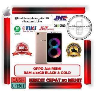 Oppo A83 Ram 3GB/32GB Black & Gold Resmi, Cash & Kredit Tanpa CC Proses Cepat