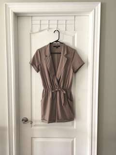 F21 Brown Romper