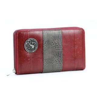 Authentic HBO Game of Thrones House Targaryen Red Grey Women Wallet