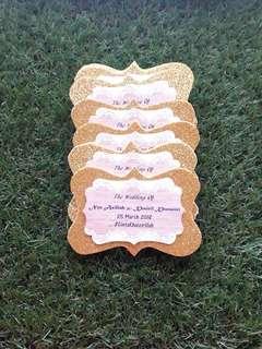 Glitter gold rustic tag