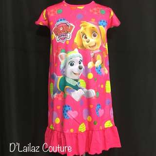Paw patrol dress nightgown last pc XL