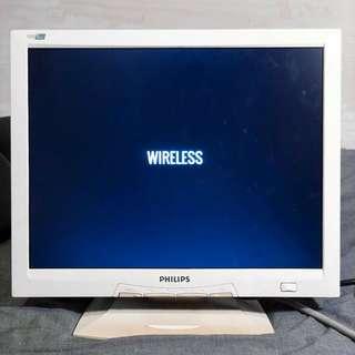 "[買芒送鍵盤 歡迎議價] Philips 15"" 液晶顯示器 150s4 // Dell 鍵盤 sk-8110"