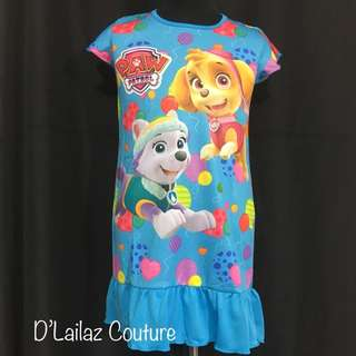 Paw patrol blue dress S, M , L left!
