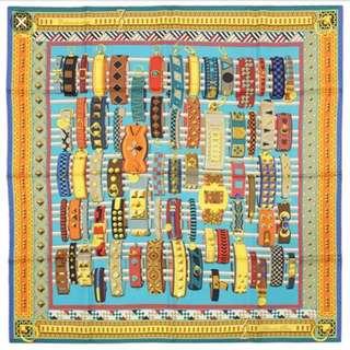 Hermes 90x90cm 100% silk scarf