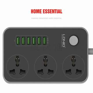 LDNIO 6 Port USB 3.4A universal Power Strip extension socket. 2500W charger dock. extension power.