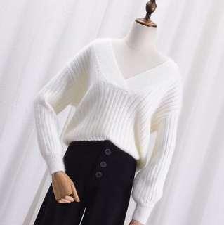🚚 實穿照📷V領針織毛衣
