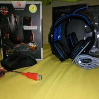 Gaming Headset Sades Wolffang & Mouse bloody a90
