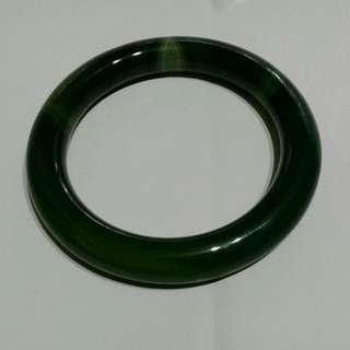 🚚 天然深綠瑪瑙手環   85號