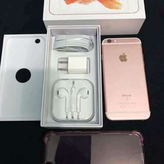 SALE iphone 6s rosegold gpplte complete package with free SIM