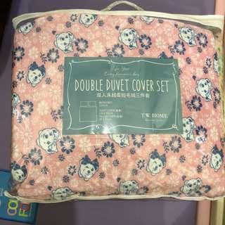 Teenie weenie 毛絨絨 被袋 +枕袋