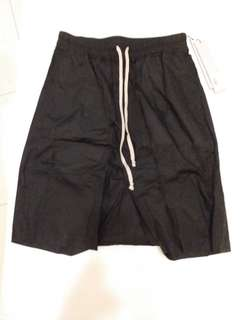 Rick Owens drop crotch shorts